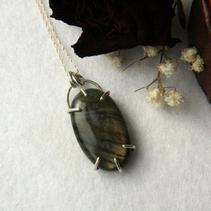 Brown Labradorite Necklace - Andune Jewellery