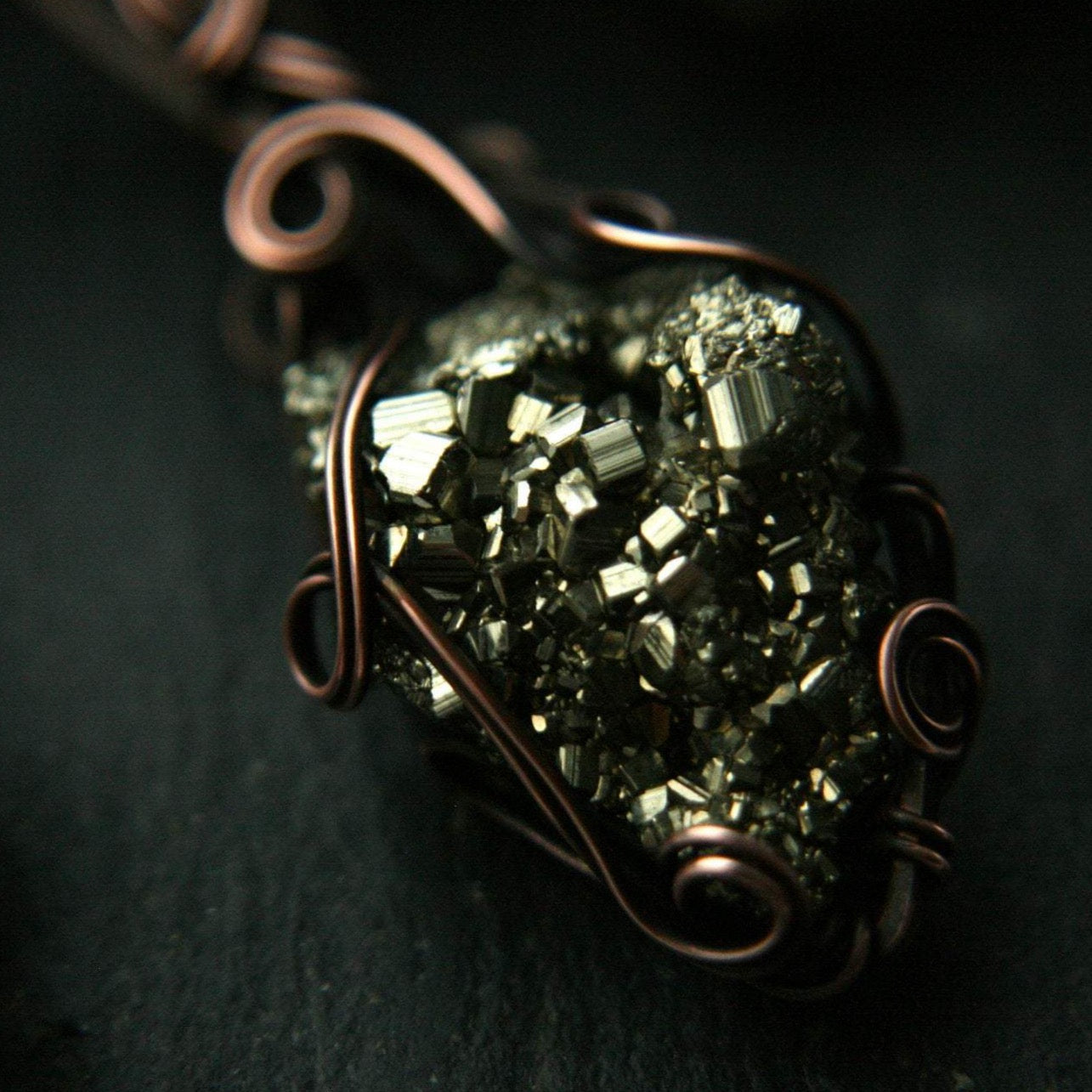 Copper Pyrite Necklace - Andune Jewellery
