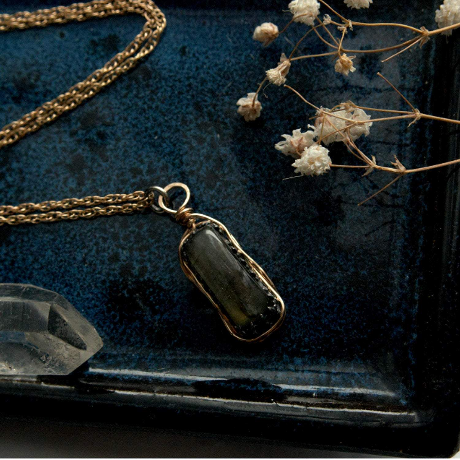 Gold Labradorite Necklace - Andune Jewellery