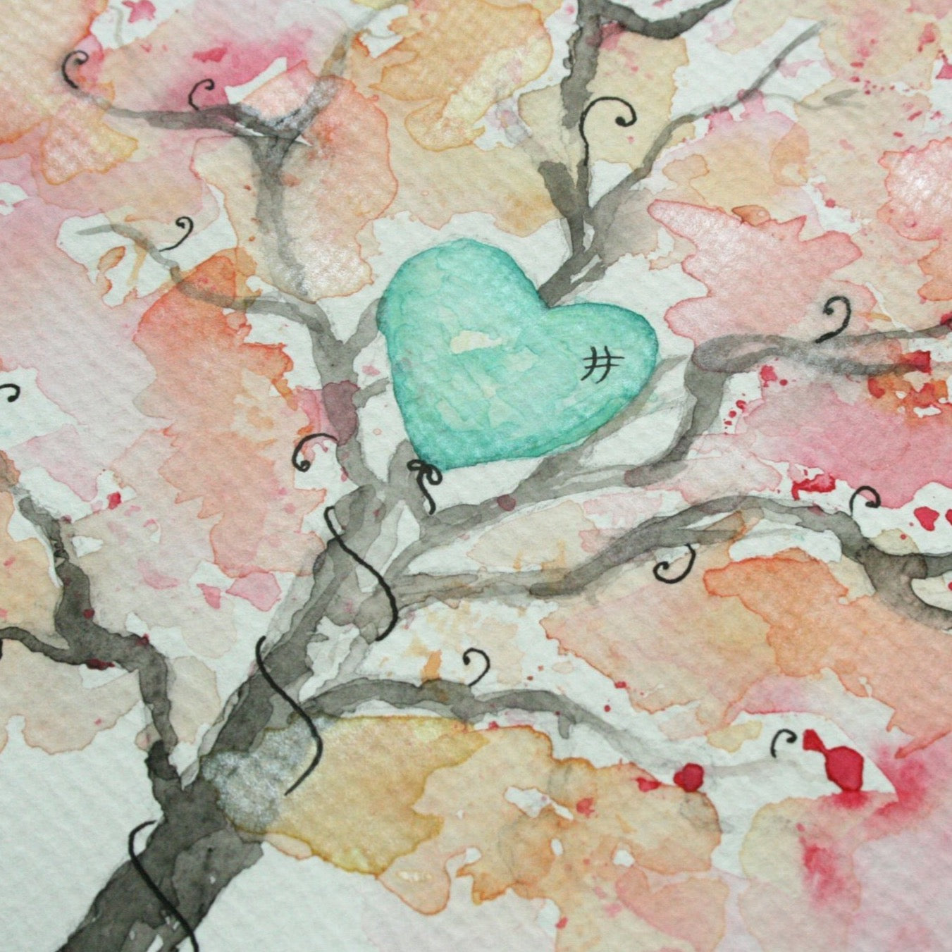 Lost & Found. Balloon Caught in a Tree. Original Watercolour Painting A4 - Andune Jewellery