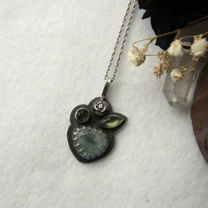 Moonstone, Labradorite and Smoky Quartz Necklace - Andune Jewellery