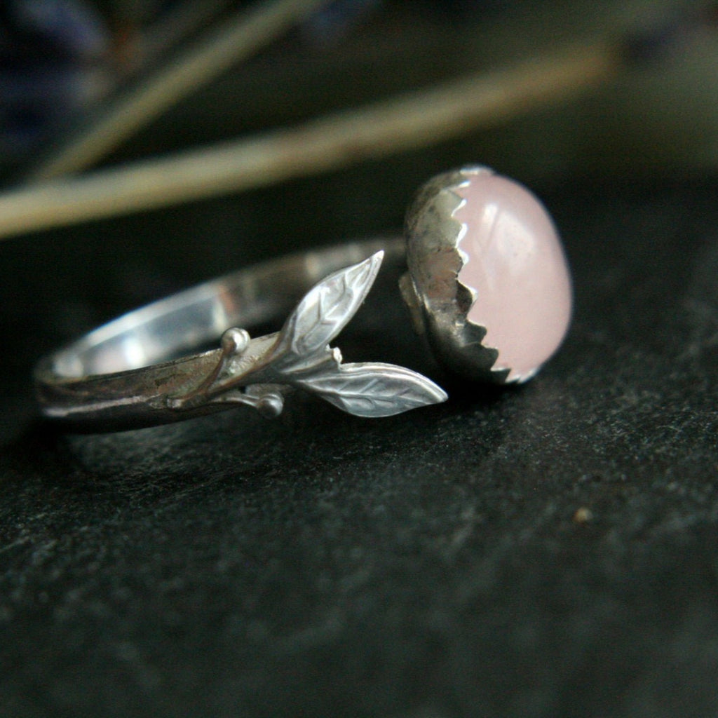 Rose Quartz Ring Adjustable from Size 5.5/L - Andune Jewellery