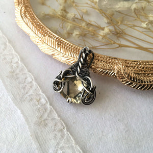 Wire Wrapped Citrine Necklace - Andune Jewellery