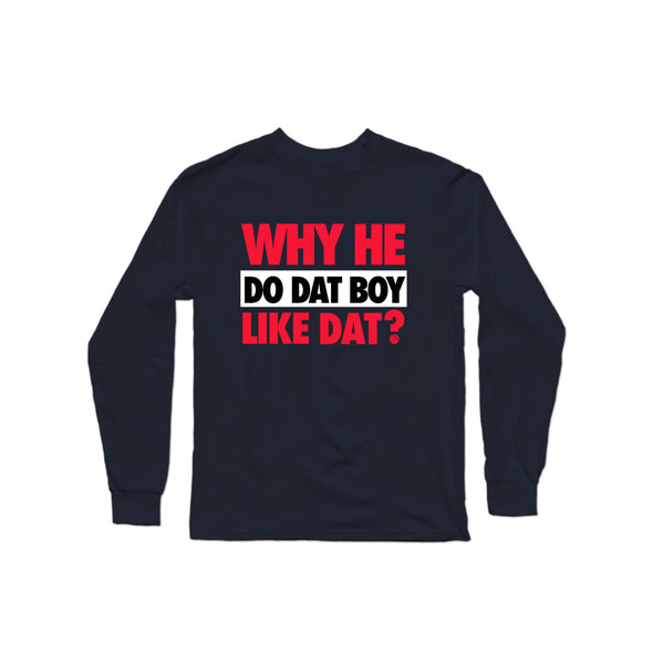 WHDDBLD - Black/Red Longsleeve