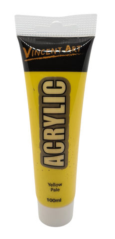 Acrylic Paint (100ml tube) Yellow Pale