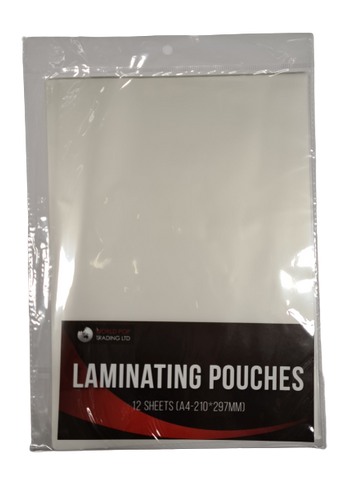 Laminating Pouches 12 Sheets A4