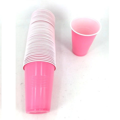 BEER PONG PINT CUPS 50PK PINK