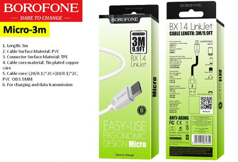 Micro 5-Pin USB Cable 3m