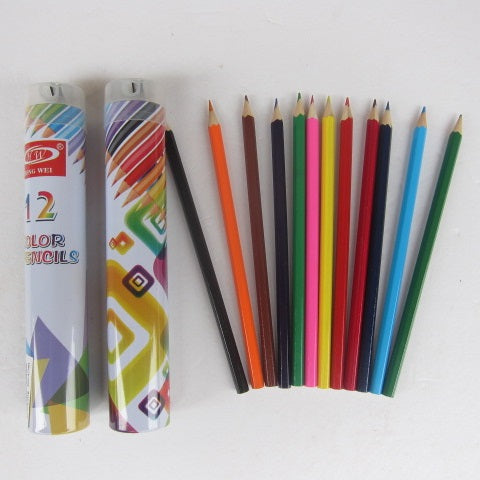 COLOR PENCILS 12PC IN TIN
