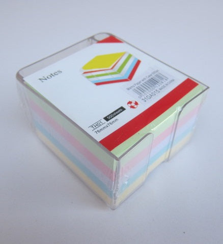 Memo Cube paper with case 500pc