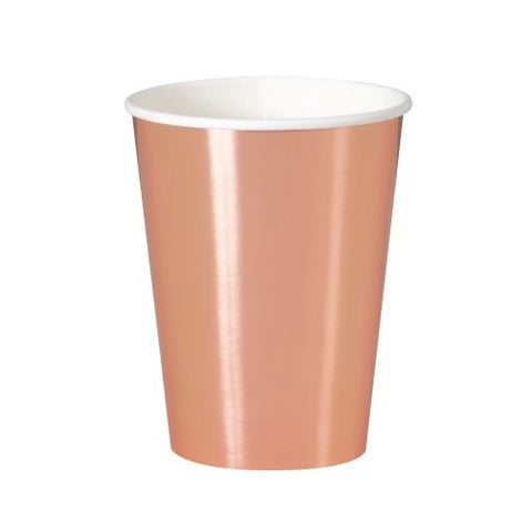 Metallic Rose Gold Cups