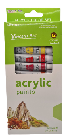 Acrylic Paint Set 12pk
