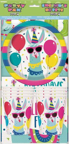 Llama Birthday Party Pack For 8