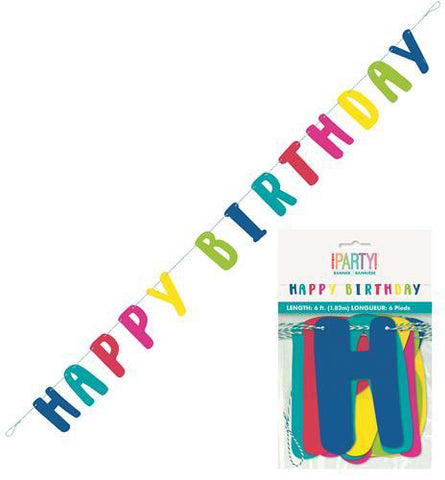 "Llama Birthday ""Happy Birthday"" Letter Banner 1.8m (6')"
