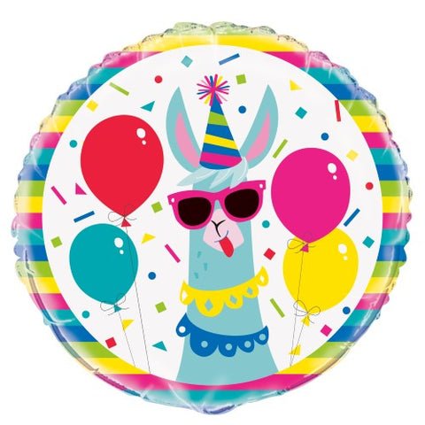 "Llama Birthday 45cm (18"") Foil Balloon Packaged"