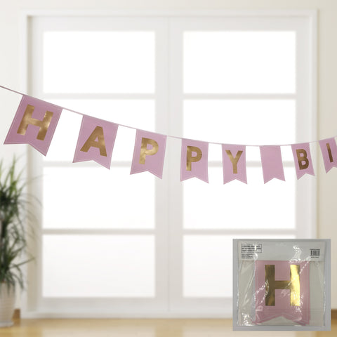 Luxe pink birthday bunting
