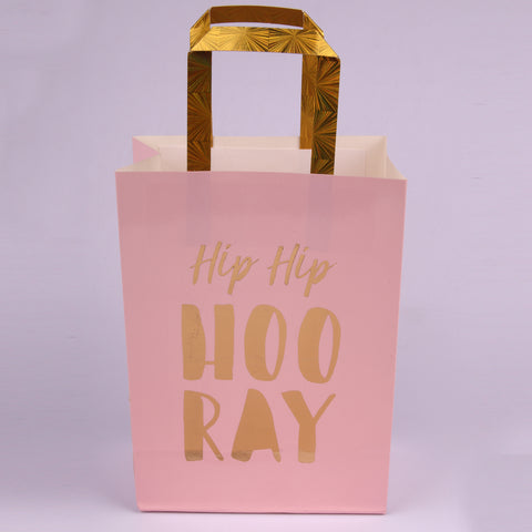 Luxe pink party bags 3pk