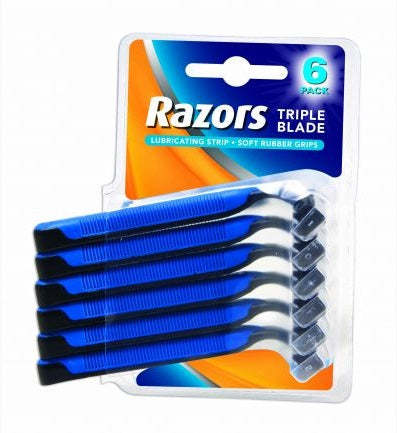 Disposable Razors Mens 6pk