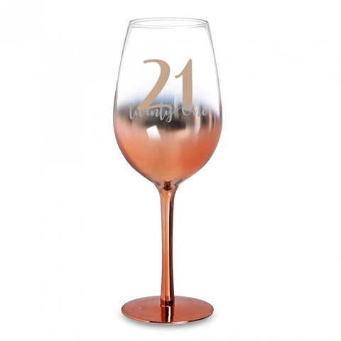 21 ROSE GOLD WINE GLASS