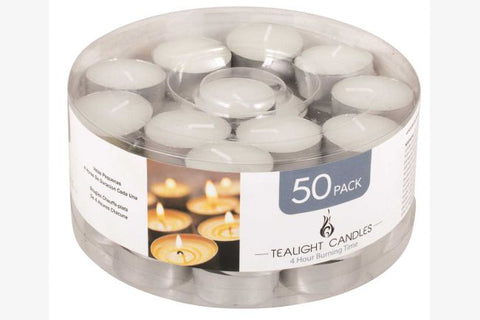 Tealight Candles 50pk 4 hour