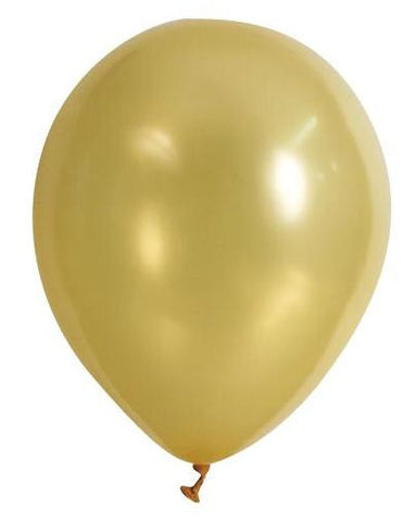 Metallic Balloons 20pk Gold