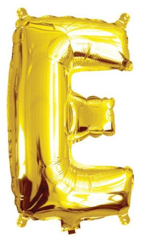 Foil Balloon Alphabet Gold E