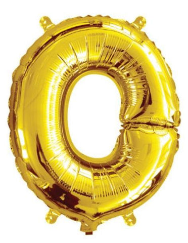 Foil Balloon Alphabet Gold O