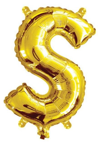 Foil Balloon Alphabet Gold S