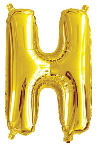 Foil Balloon Alphabet Gold H