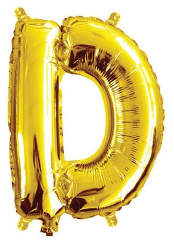 Foil Balloon Alphabet Gold D