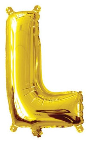 Foil Balloon Alphabet Gold L