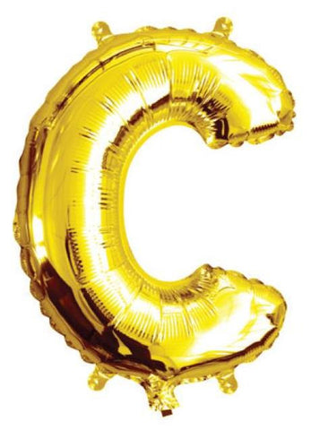 Foil Balloon Alphabet Gold C