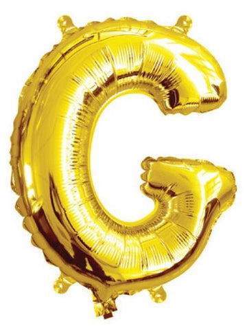 Foil Balloon Alphabet Gold G
