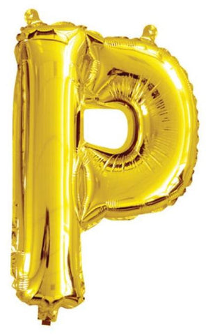 Foil Balloon Alphabet Gold P