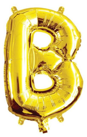 Foil Balloon Alphabet Gold B