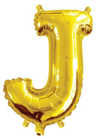 Foil Balloon Alphabet Gold J