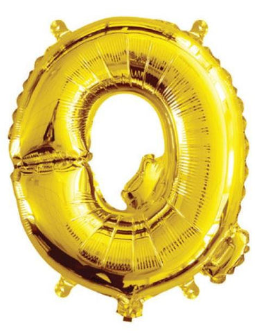 Foil Balloon Alphabet Gold Q