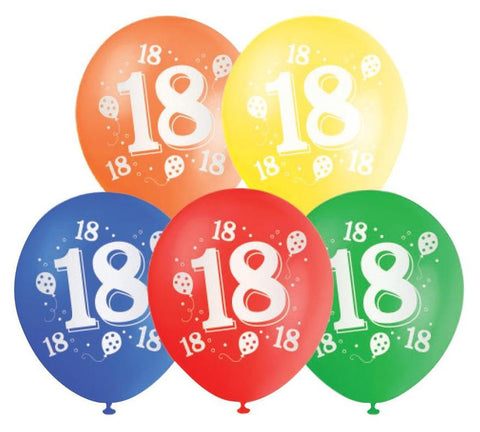 Printed Balloons 18th
