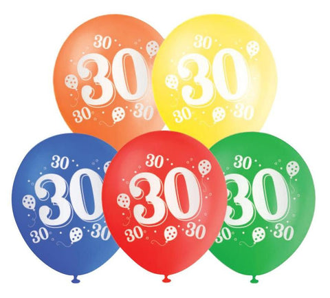 Printed Balloons 30th