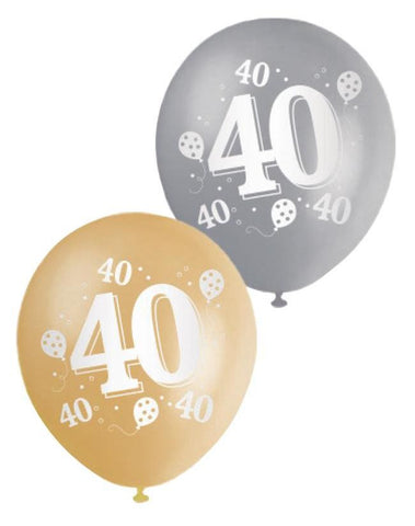 Printed Balloons 40th