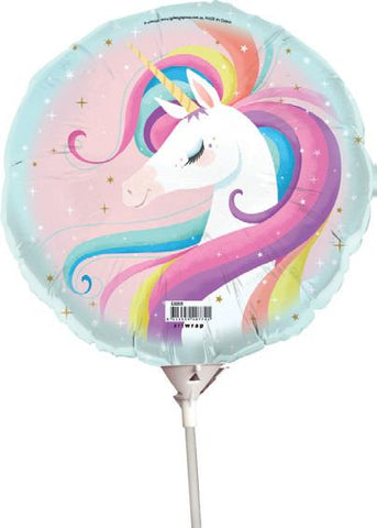 Unicorn Foil Balloon w/stick