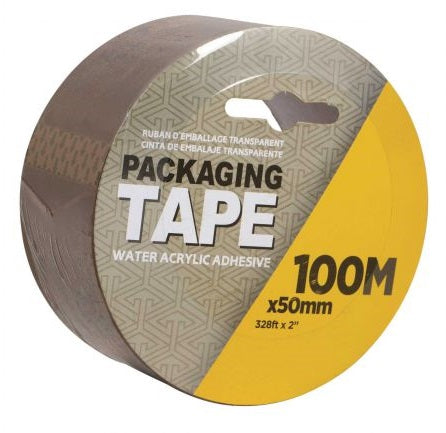 Packaging Tape 100m Clear/Tan