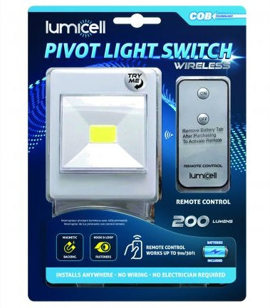 Pivot Light Switch with Remote