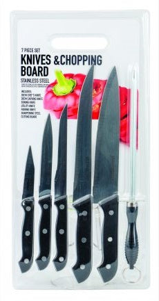 Knives and Chopping board set