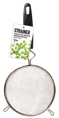 Steel Strainer Plastic Handle 13cm