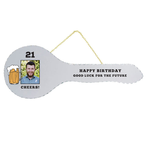 21st Key Mirror Beer Mug
