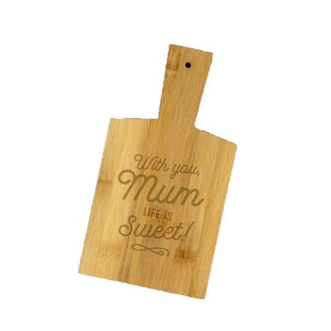 With You Mum Bamboo Snack Board