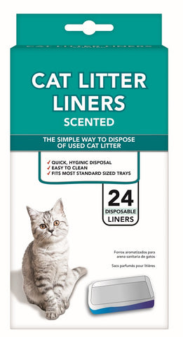 Cat Litter Liner Scented 24 Pack