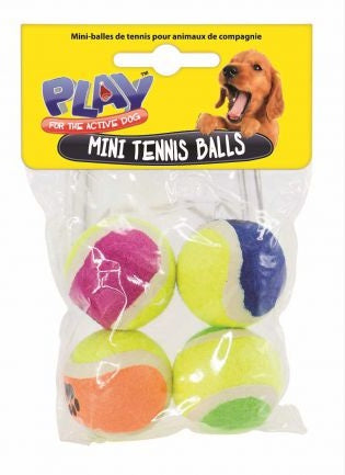 Pet Mini Tennis Balls 4 Pack