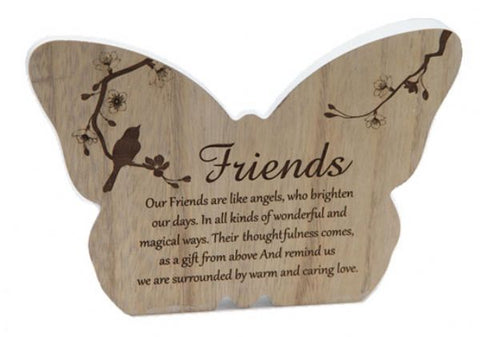 Butterfly Plaque Friends